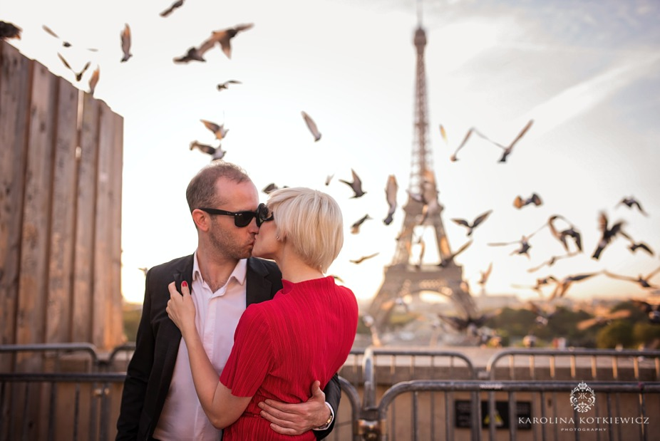 Eiffel tower engagement session