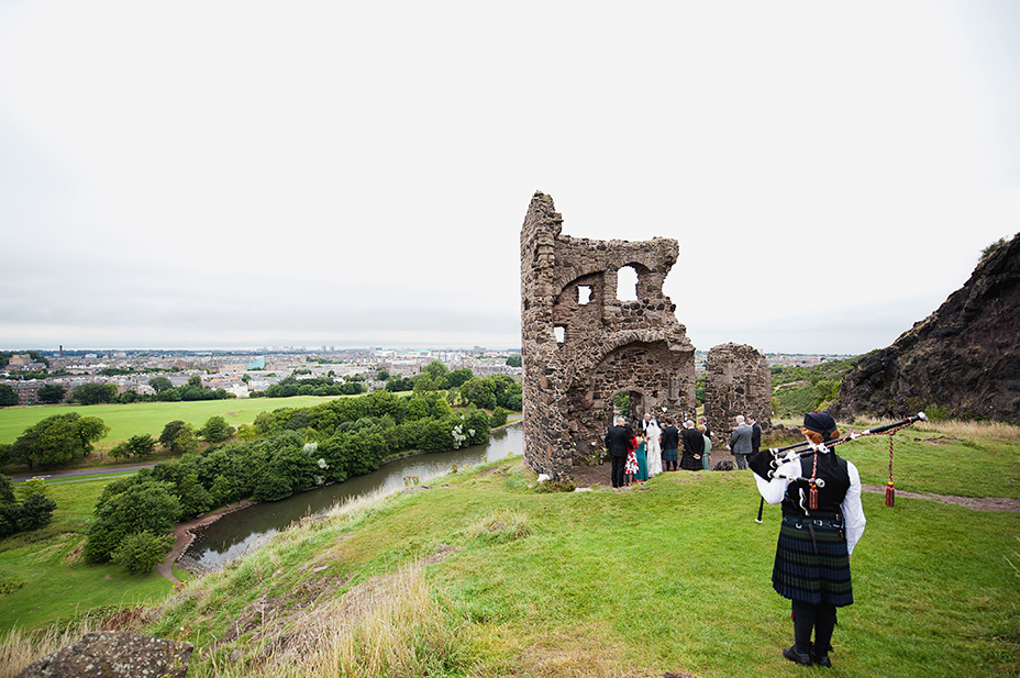 Wedding sneak peek: Stella + Grant , Edinburgh Arthur's Seat