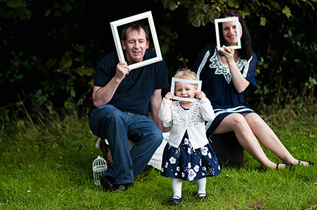Family photo session: Grace + Eva + David, Edinburgh