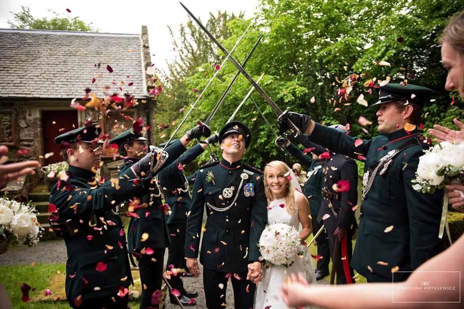 Army wedding – Glencorse House, Edinburgh