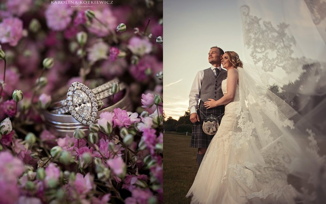 Summer wedding at Glencorse House: Danielle & Mark