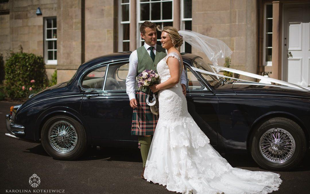 Sweet Glencorse House wedding of Emma & Stu