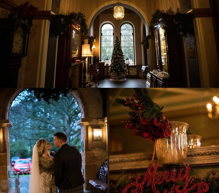 Winter wedding at Cornhill Castle: Kyle & Sarah