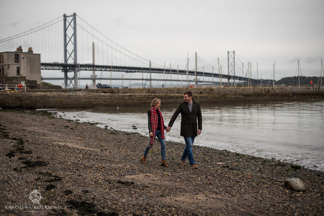 south queensferry engagement shoot
