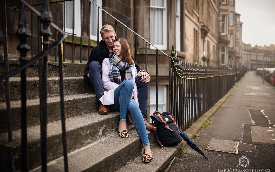 City engagement session Philippa & Robin