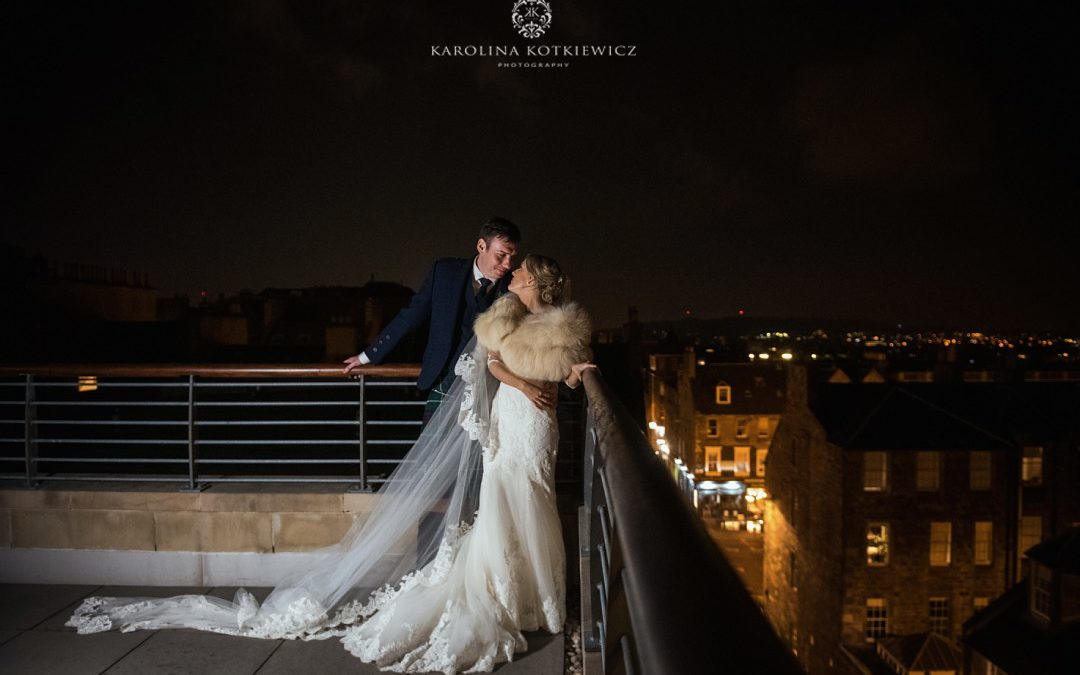 City winter wedding with Chloe & Bruce