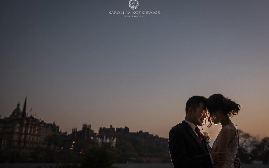 Balmoral Edinburgh wedding  Luke & Penny